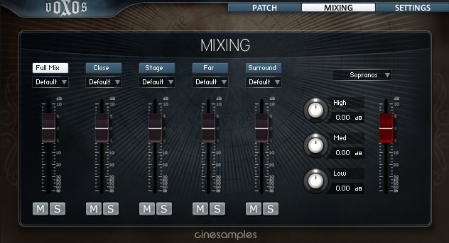 Voxos mixing