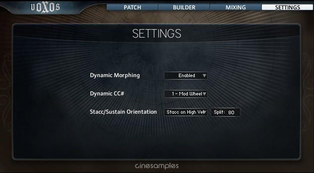 Voxos setting