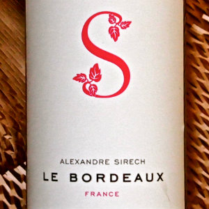 オサレなボトルの赤ワイン Alexandre SIRECH Le Bordeaux  飲んだ