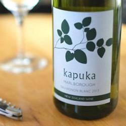 ニュージーランドの白ワイン「kapuka」と松前漬けが美味しい。