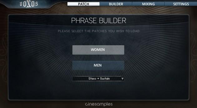 Voxos phrase builder