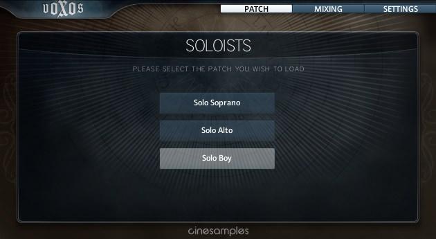 Voxos soloists